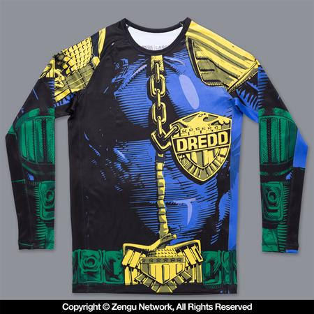 Scramble Judge Dredd The Law Rash Guard
